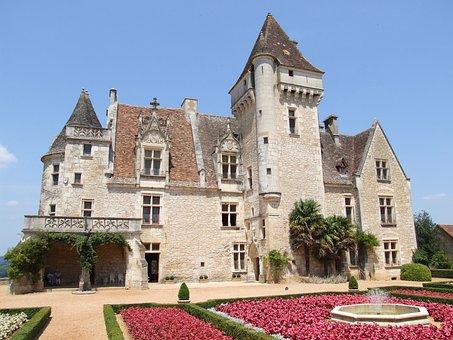 Castle, Chateau, France, Chateau De Milandes