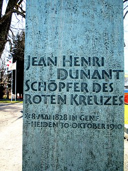Monument, Back, Inscription, Jean Henri Dunant