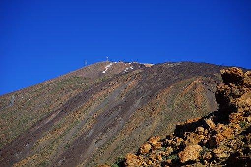 Mountain, Volcano, Teide, Lava, Lava Fields, Lava Flow