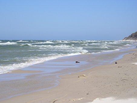 Baltic Sea, Poland, Beach, Rowy, Spa, Sea, Lake