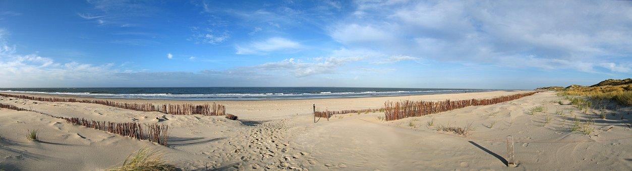 Amrum, Beach, Sea, North Sea, Nordfriesland, Wide