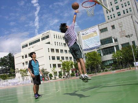 Basketball, Sport, Sky, Pusan National University