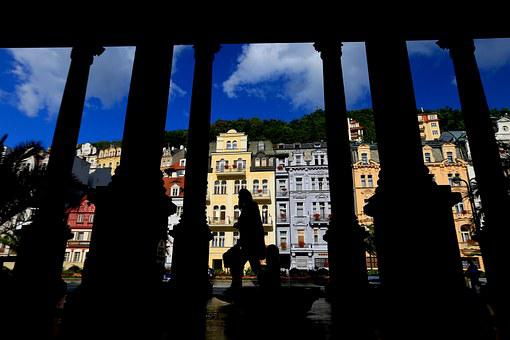 The Spa Town, Czech, Central Europe, Shadow, City