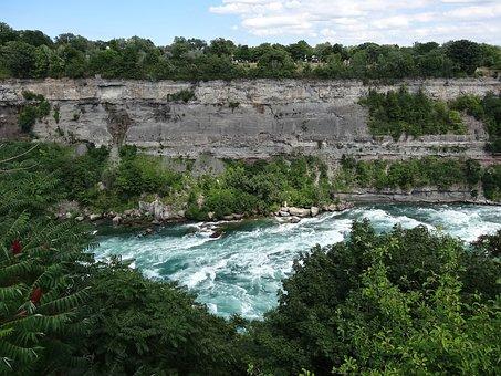 Niagara River, River, Blue, Minerals, Rocks, Green