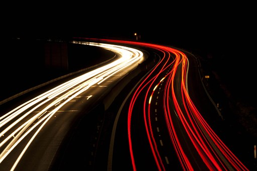 Road, Auto, Lights, Long Exposure, Long Exposition