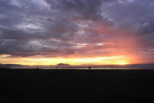 Born Sun, Clouds, Landscape, Dawn, Tranquility, Morning