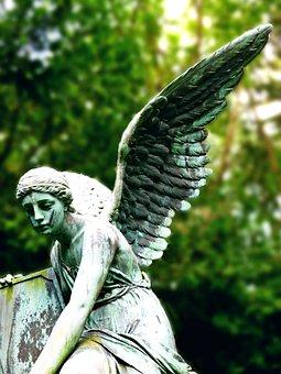 Angel, Sculpture, Angel Sculpture, Fig, Cemetery, Faith