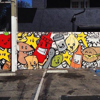 Graffiti, Art, Venice, Beach, Los, Angeles, California