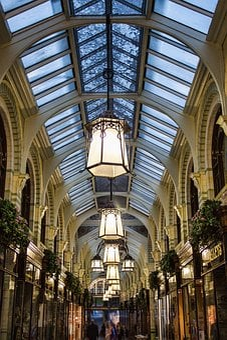 Arcade, Victorian, L, Architecture, England, City, Uk