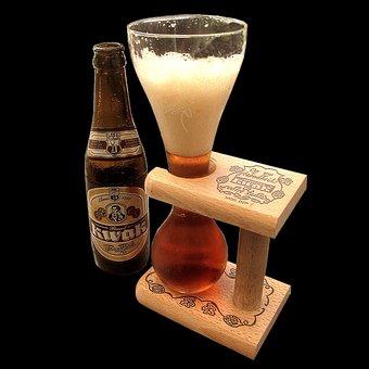 Beer, Beer Glass, Coachman Glass, Isolated, Amber