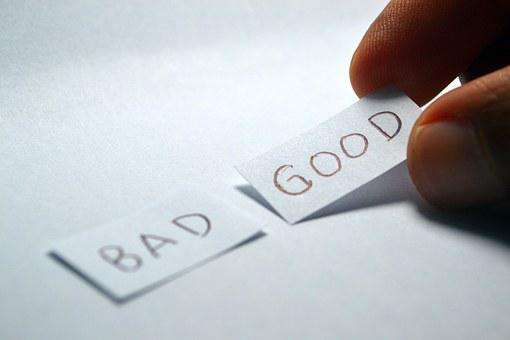 Good, Bad, Opposite, Choice, Choose, Decision, Positive