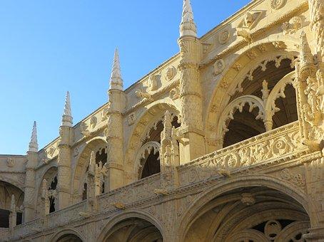 Lisbon, Hyeronymite, Convent, Manuelin, Architecture