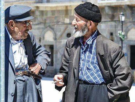 Old Man, Old Men, Elders, Speaking, Conversation