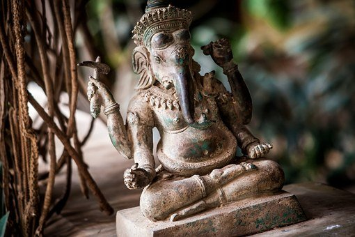 India, Elephant, Statue, Stone, Fig, Hinduism, Art