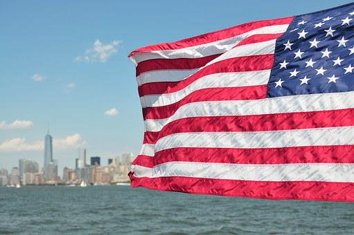 Usa, Flag, New York, Skyline, Patriotic, Independence