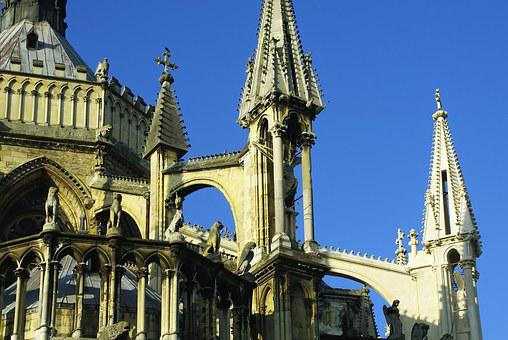 Reims, Cathedral, French Gothic Architecture, Statues