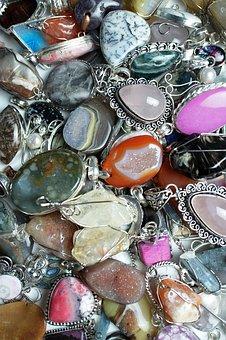 Colorful, Gemstone, Pendants, Gem, Stone, Jewelry, Lot