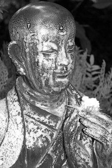 Statue, Budda, Buddah, Buddhism, Japanese, Face, Asia