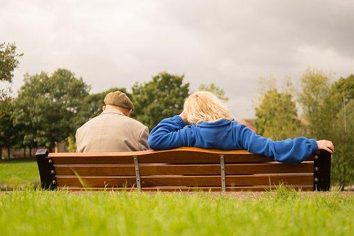 People, Sitting, Resting, Waiting, Man, Woman, Elderly