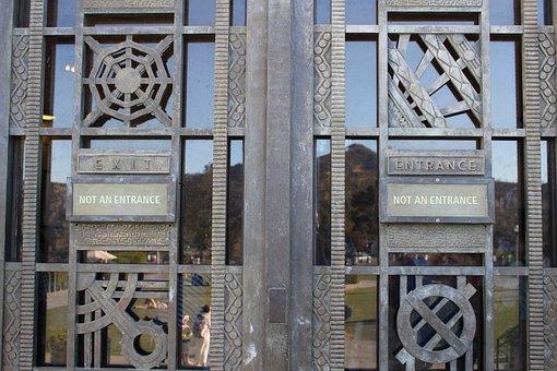 Enter, Exit, Not Entrance, Open Door, Door, Entrance