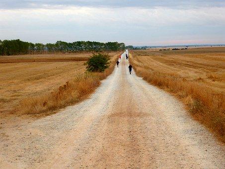 Way Of St James, Pilgrims, Path, Landscape