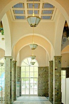Round Arch, Hall, Columnar, Pillared Hall