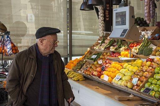 Elder, Greengrocers, Scale, Market, San Miguel Market
