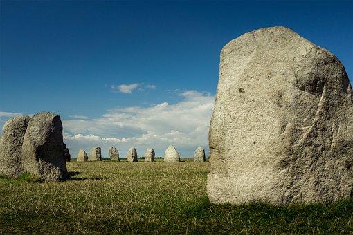 Stonehenge, Stones, Sweden, Lan, Stone Ship