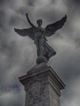 George-etienne Cartier, Montreal, Angel, Wings, Symbol