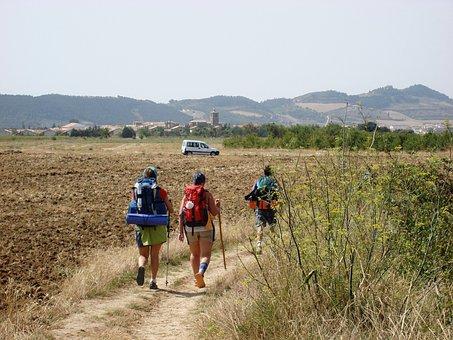 Pilgrims, Way Of St James, Camino Santiago, Galicia