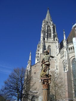 Ulm Cathedral, Gothic, Building, Church, Tower