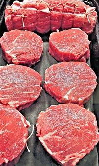 Beef Ribeye Steak, Tender, Marbled, Fresh, Food