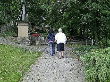 Cemetery, Christian, Graves, Religious People, Women