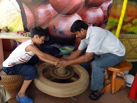 Potmaking, Pottery, Clay, Craft, Pot, Wheel, Skill