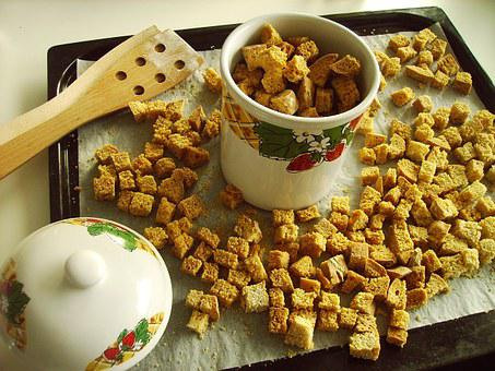 Food, Crouton, Healthy, Tasty, Homemade, Traditional