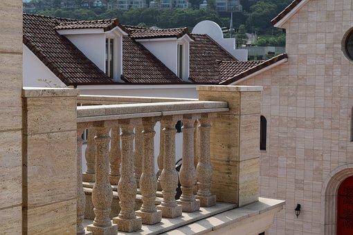 Veranda, Roof, Greece Forms, Post, Luxury, Hotel