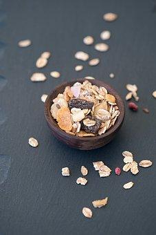 Muesli, Cereals, Breakfast Cereal, Bowls, Wooden Bowl