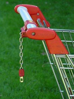 Coin Deposit Locks, Push Handle, Handle, Shopping Cart