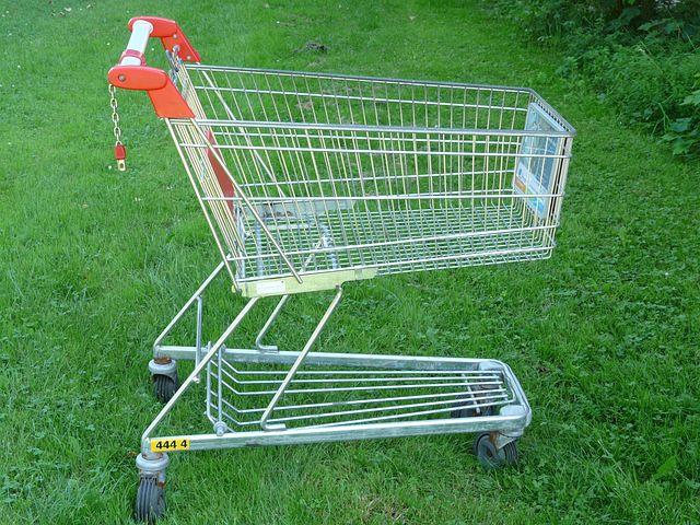 Shopping Cart, Shopping, Supermarket, Wire Basket