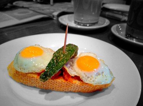 Breakfast, Food, Eggs, Fried, Plate, Table, Eating