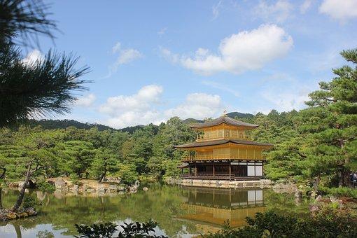 Kinkaku-ji, Rokuon-ji, Temple, Golden Pavilion, Garden