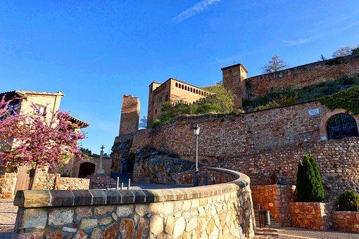 Citadel, Castle, Alquezar, View, Historic, Buildings