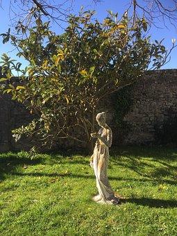 Castle Of The Serpent, Statue, Garden, Aude