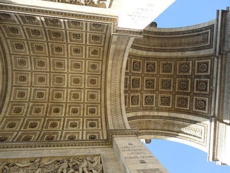 Arch Of Triumph, Paris, France, Champs Elysees Avenue