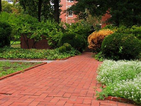 Clinker, Pathway, Bricks, Philadelphia, Downtown, Path