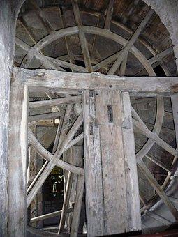 Flywheel, Wood, Technology, Zugbrunnen
