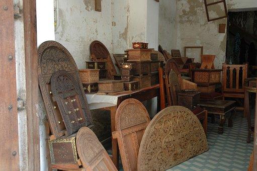 Woodwork, Woodcarving, Door, Workshop, Zanzibar