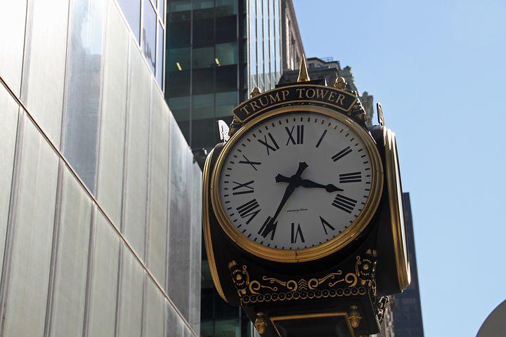 Clock, Trump, Trump Tower, Building, New York