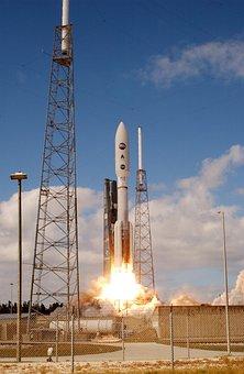 Rocket, Start, Spaceport, Satellite, Fire, Take Off