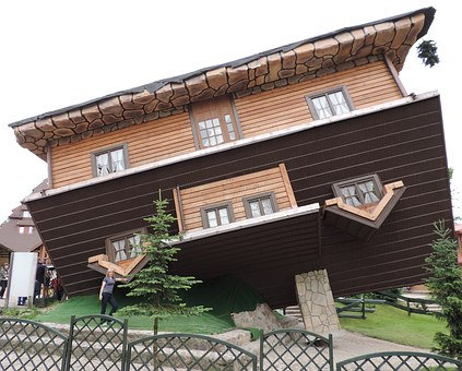 House, Inverted, Wooden Construction